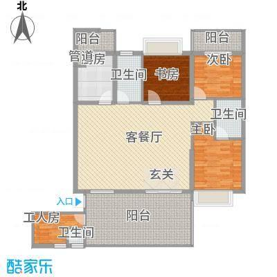 君临宝邸164.40㎡5-29层6-33D单元户型3室2厅2卫1厨