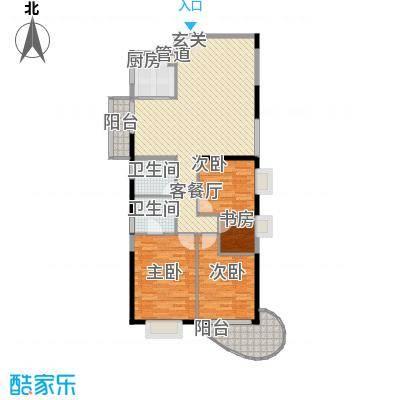 罗宾森广场127.00㎡三卧户型3室2厅2卫1厨
