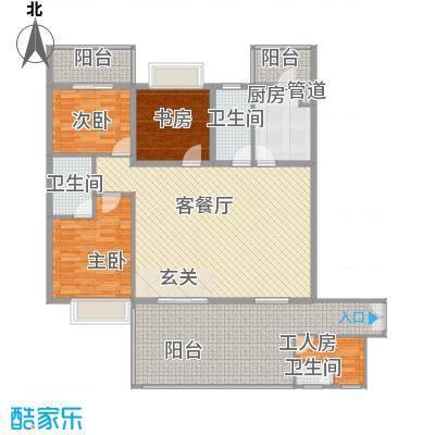 君临宝邸175.77㎡5-29层6-33G单元G户型3室2厅2卫1厨