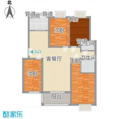 新东方花园16.50㎡F1户型4室2厅2卫1厨