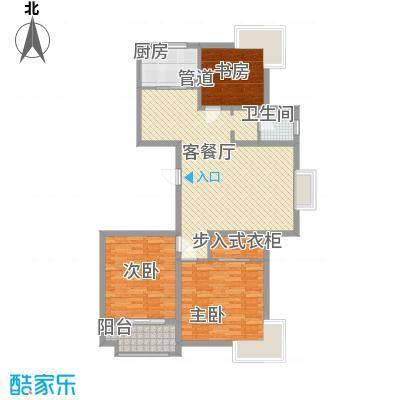 新东方花园133.71㎡H户型3室2厅1卫1厨