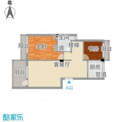 亲亲家园82.00㎡顶层户型1室2厅1卫1厨
