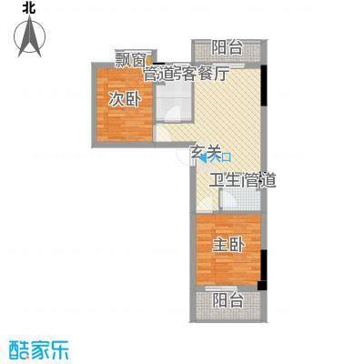 源通中心圆通中心1户型2室1厅1卫1厨