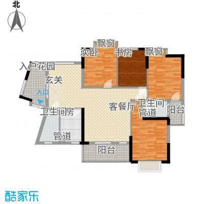 源通中心圆通中心户型3室2厅2卫1厨