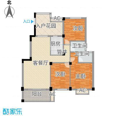 BOBO城137.00㎡F户型3室2厅2卫1厨