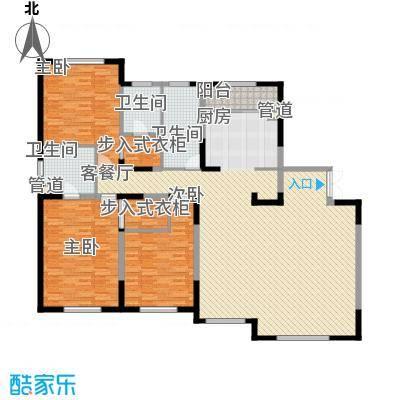 哈佛特区项目168.00㎡D栋户型3室2厅3卫1厨