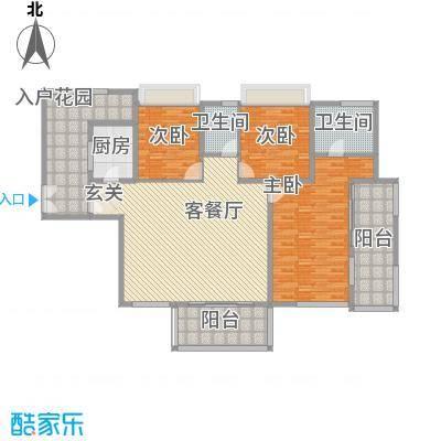 海峡国际社区171.00㎡9、10号楼标准层02户型4室2厅2卫1厨