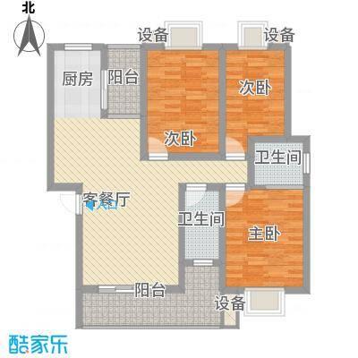 世纪城龙盛苑3.00㎡户型3室