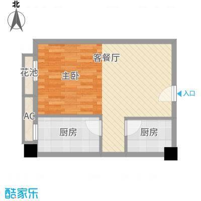 时丰中央公园51.30㎡DK1-9号楼户型