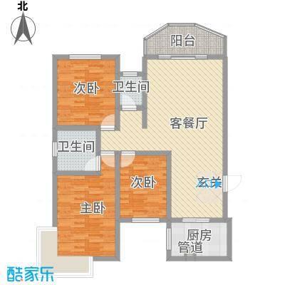 怡富花园5.00㎡户型3室