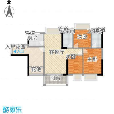 海悦云天18.00㎡3栋2单元0、1单元0户型3室2厅2卫1厨