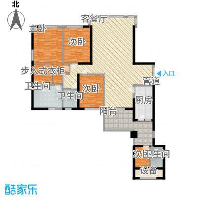 中骏天峰12.00㎡2#01单元户型4室2厅3卫1厨