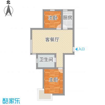 博荣水立方78.25㎡81#-03户型2室2厅1卫1厨