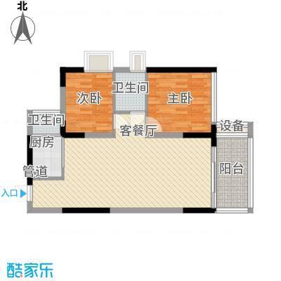金碧丽江东第77.86㎡云松阁3―03户型2室2厅1卫