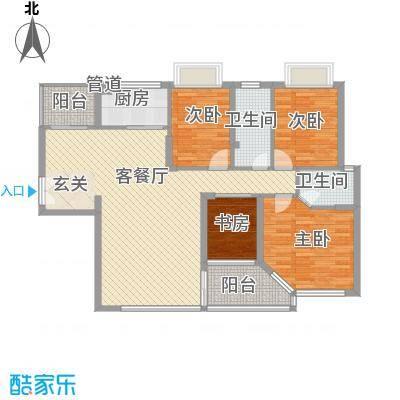华发国际花园御景居户型4室2厅2卫