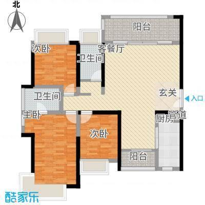 中珠豪庭122.00㎡户型3室