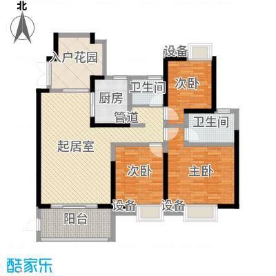 世纪城龙祺苑131.00㎡户型3室