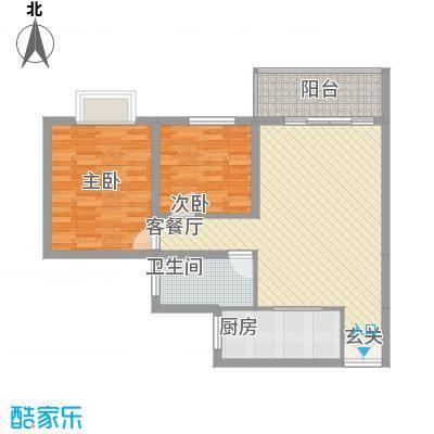玫瑰园4户型2室2厅1卫1厨