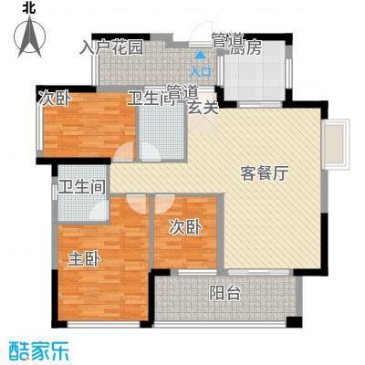 金鸿利嘉阁11.40㎡1栋1单元0/2单元0户型3室2厅2卫1厨