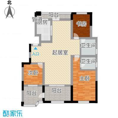 金浦御龙湾122.00㎡一期花园洋房2层E2户型