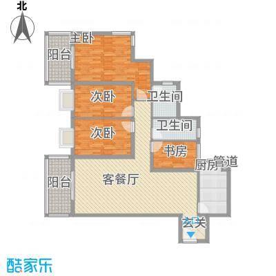 太微花园A户型4室2厅2卫1厨