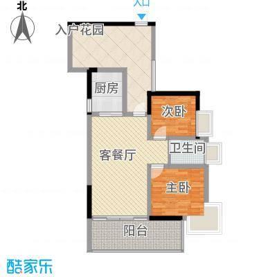 紫金阁86.00㎡户型2室