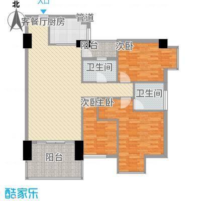 时尚国际121.00㎡户型3室2厅2卫1厨