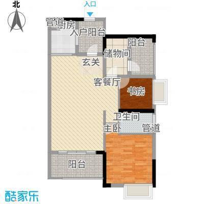 嘉景华庭8.62㎡户型2室2厅1卫1厨