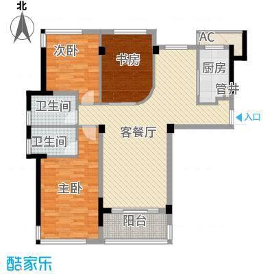 雅戈尔锦绣东城127.00㎡已售罄-2期C1户型3室2厅2卫1厨