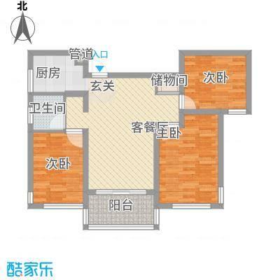 雅戈尔锦绣东城88.00㎡已售罄-锦绣东城B2户型3室2厅1卫1厨