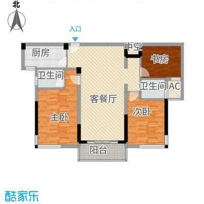 雅戈尔锦绣东城125.00㎡已售罄-2期C2户型3室2厅2卫1厨