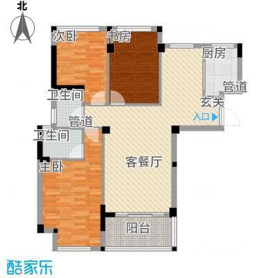 雅戈尔锦绣东城118.00㎡已售罄-2期C3户型3室2厅2卫1厨