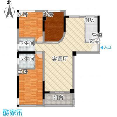 雅戈尔锦绣东城125.00㎡已售罄-2期E3户型3室2厅2卫1厨