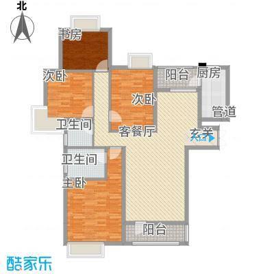 世茂天城145.00㎡3#楼A1户型4室2厅2卫1厨