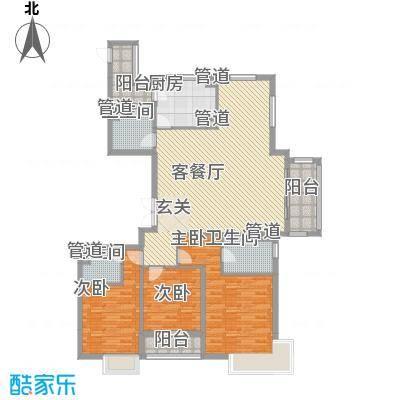 世茂天城16.70㎡一期高层6#楼Lb户型3室2厅3卫1厨