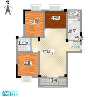 金秋花园户型3室2厅2卫1厨