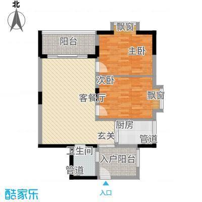 华坤花园户型2室2厅1卫1厨