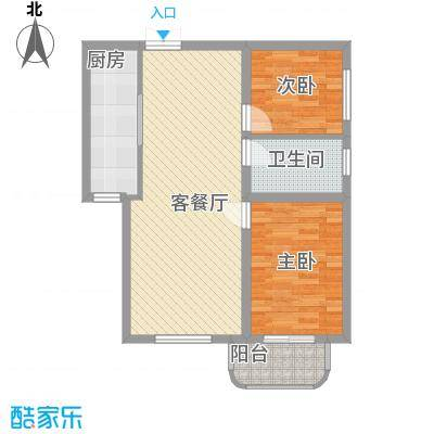 金秋花园1户型2室2厅1卫1厨