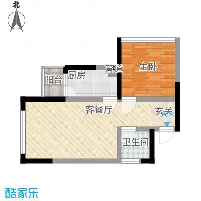 云凯熙园56.44㎡户型