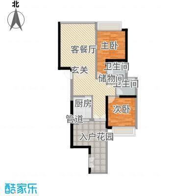 国际邮轮城一期(一期)南区2#楼22层08单元户型