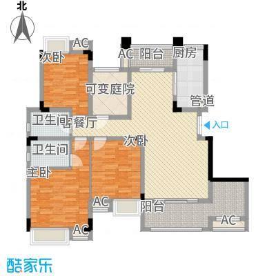 麒川时代广场一期洋房3-7号楼E5户型