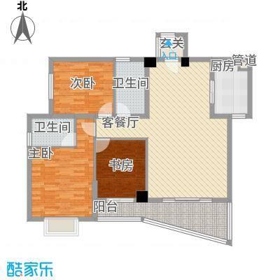 未来海岸系天心岛123.00㎡户型3室
