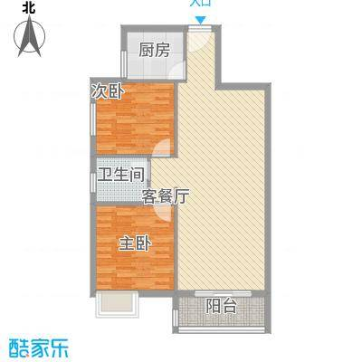 金筑美居65.00㎡户型2室