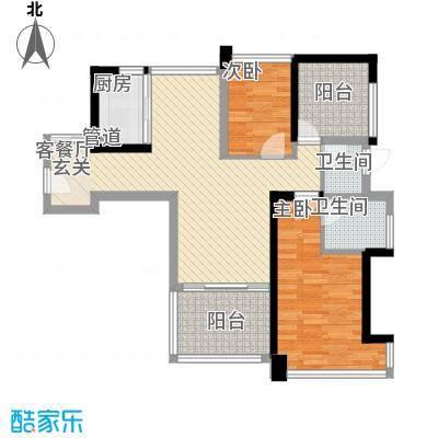 公园道1户型3室2厅2卫