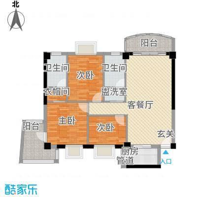 翔鹭花城新生活5号楼2457户型3室2厅2卫1厨