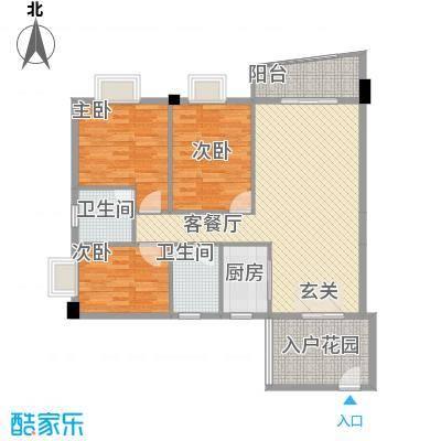 皇龙新城9#-A户型3室2厅2卫1厨