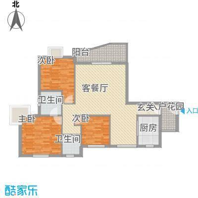 皇龙新城11#-A户型3室2厅2卫1厨