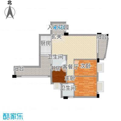 皇龙新城9#-D户型3室2厅2卫1厨