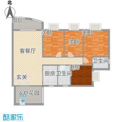 皇龙新城9#-B户型4室2厅2卫1厨
