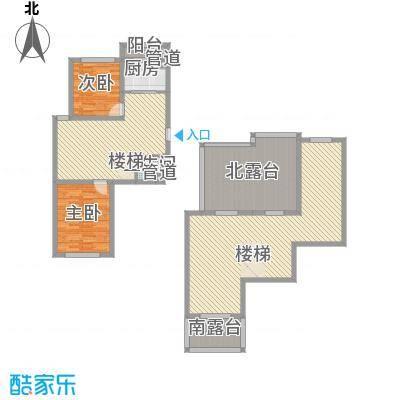 时代庄园75.00㎡C2户型2室2厅1卫1厨